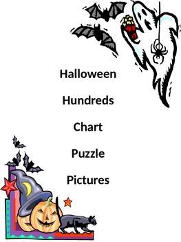 Halloween Hundreds Chart Puzzle