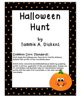 Halloween Hunt - Finding objects on a coordinate plane,