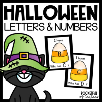"""Halloween """"I Have, Who Has?"""" Letter Recognition Game"""
