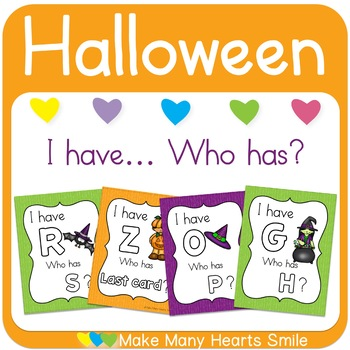 Halloween Activity: Witch and Friends  I have Who has ABCs