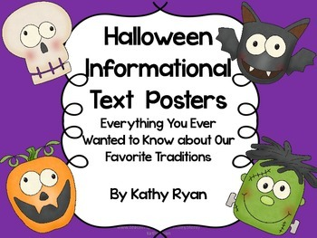 Halloween Informational Text Posters and Coloring Book