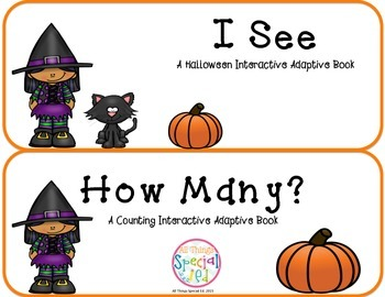 "Halloween Interactive Adaptive books set of 2 (""I See"" and"