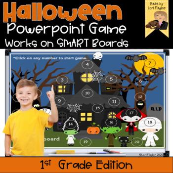 Halloween Interactive Powerpoint Math Game- First Grade Edition