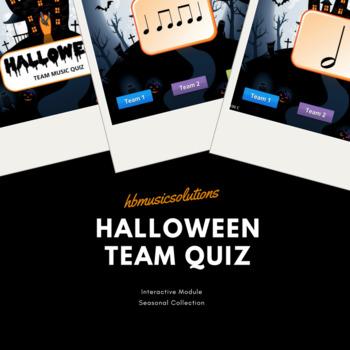 Halloween Interactive Team Music Quiz