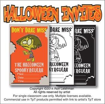 Halloween Invitations Cartoon Clipart