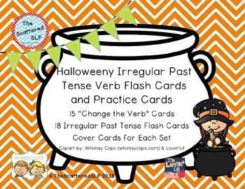 Halloween Irregular Past Tense Verb Activities
