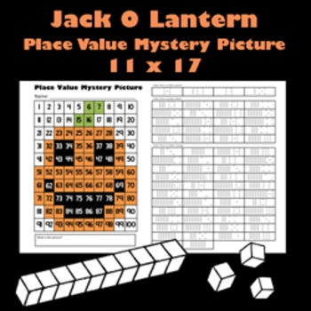 Halloween Jack O'Lantern Place Value Math Mystery Picture