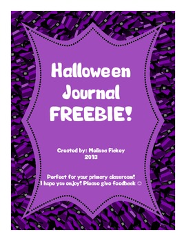 Halloween Journal *FREEBIE*