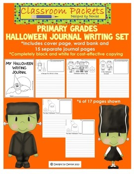 Halloween Journal Pack for Primary Grades