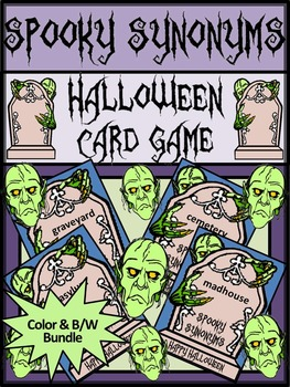 Halloween Games Activities: Spooky Synonyms Halloween Lang