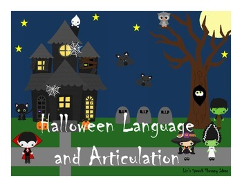 Halloween Language and Articulation - for mixed groups and RTI