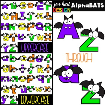 Halloween Letters Clipart -AlphaBATS