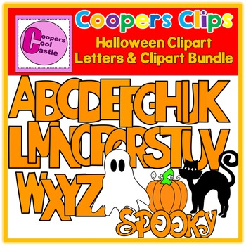Halloween Letters & Pictures Clipart