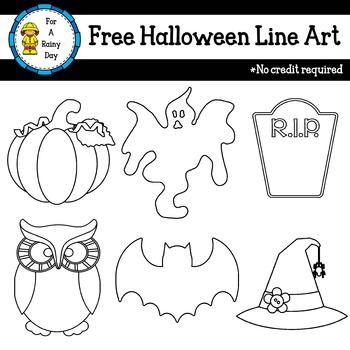 Halloween Line Art Freebie