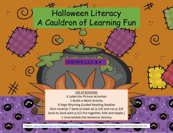 Halloween Literacy  A Cauldron of Fun