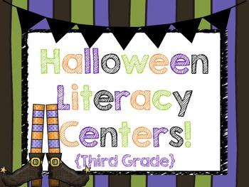 Halloween Literacy Centers! {Third Grade!} Common Core!