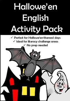 Halloween Literacy Fun Activity Pack