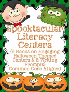 Literacy Centers or Games - 5 Literacy Centers Halloween Themed