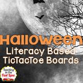 Halloween Literature Based TicTacToe Choice Board Bundle