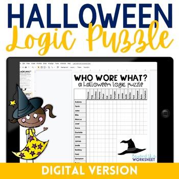 Halloween Logic Puzzle - GOOGLE EDITION