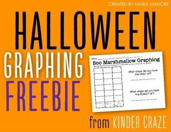 Halloween Marshmallow Graphing Freebie