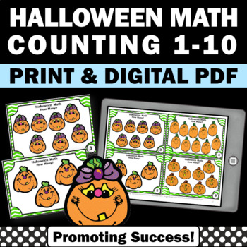 kindergarten Halloween math counting games
