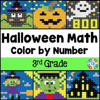 3rd Grade Halloween Activities: 3rd Grade Halloween Math (