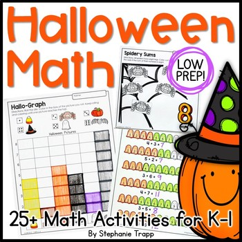 Halloween Math Games and Activities for Kindergarten and F