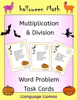 Halloween Math - multiplication and division word problem