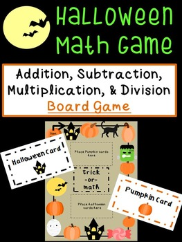 Halloween Activities: Addition, Subtraction, Multiplicatio