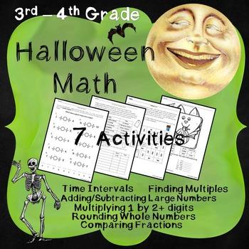 Halloween Math - Mixed Math Review