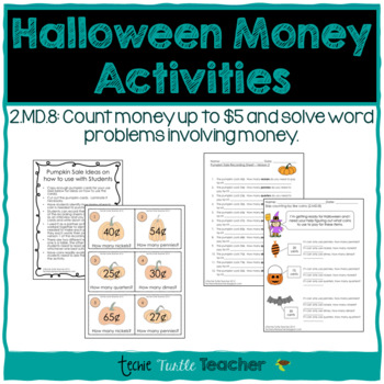 Halloween Math Activities - Skip Counting by Like Coins (2.MD.8)