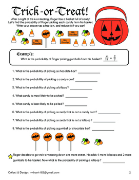Halloween Math Activities for Grade 3,4,5,6,7,8