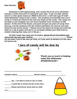 Halloween Math Activity, Estimation