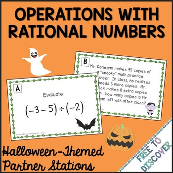 Halloween Math Activity - Operations with Rational Numbers