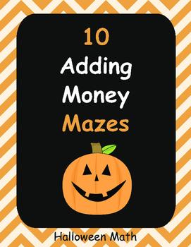 Halloween Math: Adding Money Maze