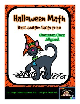 Halloween Math Addition (10 - 20) -Common Core Aligned {Sw