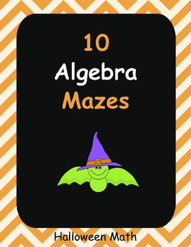 Halloween Math: Algebra Maze