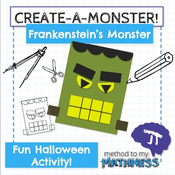 Halloween Math in Art Activity CREATE A MONSTER Frankenste