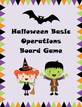 Halloween Math Board Game - Basic Operations