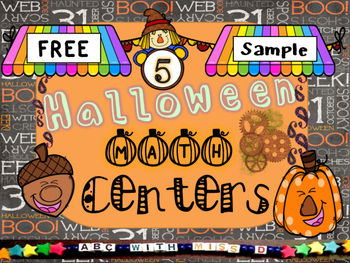 Halloween Math Center Sample Freebie! Add and Color, and C
