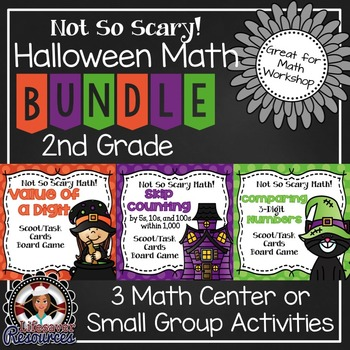 Halloween Math Centers 2nd Grade