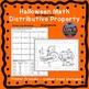 Halloween Fall Distributive Property Bundle Maze & Color b