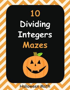 Halloween Math: Dividing Integers Maze