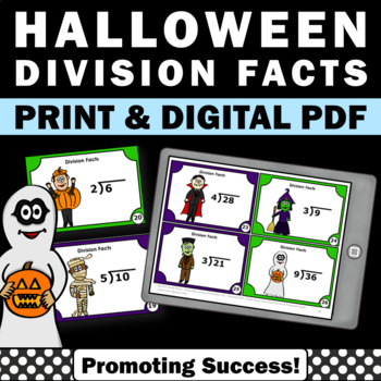 Halloween Math Games & Activities 3rd 4th Grade Division T