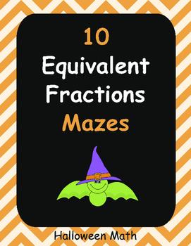 Halloween Math: Equivalent Fractions Maze