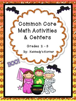 Halloween Math Fun with Print and Go Centers