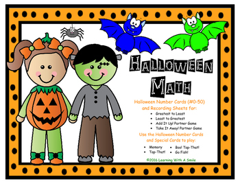 Halloween Math Game: BOO! Top-That! (Small Groups or Math