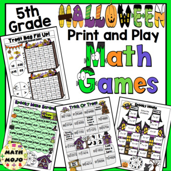 Halloween Math Games - 5th Grade