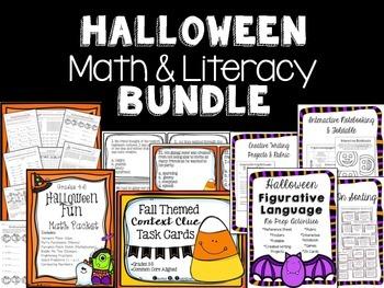Halloween Math & Literacy Bundle